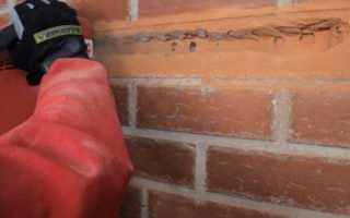 Как штробить кирпичную стену?