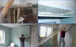 Как прибить гипсокартон к деревянной стене?
