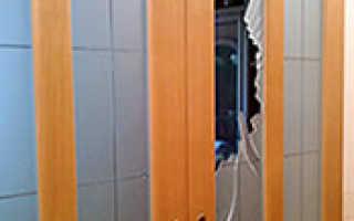 Как заменить стекло в межкомнатной двери?