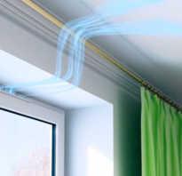 Вентиляционный клапан под подоконником