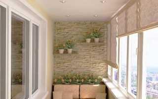 Как лучше сделать потолок на балконе?