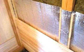 Применение в бани утеплителей с алюминиевой фольгой