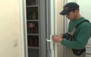 Установка двухсторонней ручки на балконную дверь: видео