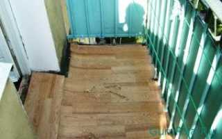Как сделать пол на застекленном балконе?