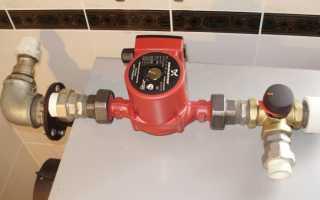 Ход установки циркуляционного насоса в систему отопления