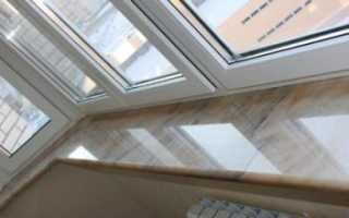 Как крепить подоконник на балконе