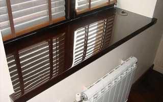 Ширина подоконников для пластиковых окон