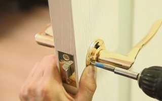 Установка дверной ручки на входную и межкомнатную дверь