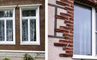 Откосы на фасаде дома для окон