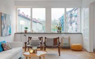 Оформление окна с широким подоконником