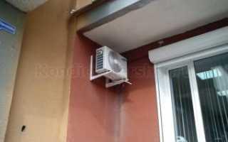 Можно ли установить кондиционер на балконе?