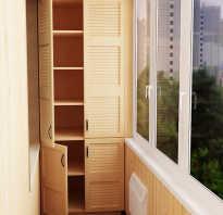 Какие шкафы можно сделать на балконе?