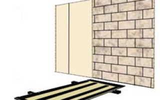 Чем приклеить гипсокартон к кирпичной стене?