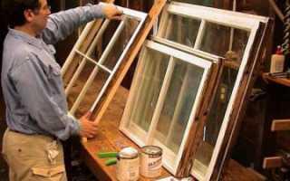 Чем снять старую краску с деревянного окна?