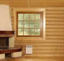 Отделка откосов деревянных окон внутри