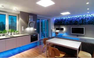Подсветка стен в квартире светодиодной лентой
