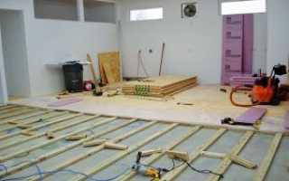 Как прикрепить фанеру к бетонному полу