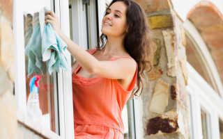 Как помыть пластиковые окна, чтобы не было разводов