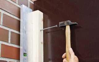 Как закрепить брус к бетонной стене?
