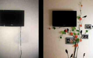 Как закрепить приставку к телевизору на стене?