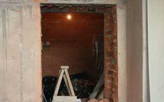 Как в кирпичной стене правильно сделать дверной проем?