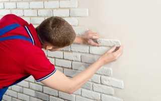 Как приклеить гипсовую плитку к стене?