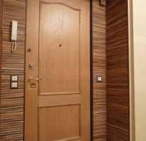 Как заделать откосы у входной двери