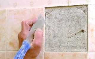 Чем приклеить отвалившуюся керамическую плитку к стене?