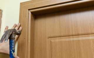 Как установить наличники на межкомнатные двери, как крепить