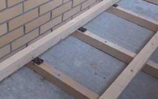 Как поднять уровень пола на балконе?