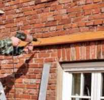 Как закрепить деревянный брус к кирпичной стене?