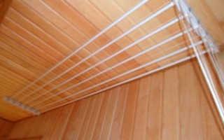 Как крепить сушилку для белья на балконе?