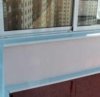 Как закрепить отлив на балконе?