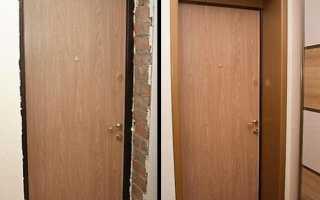 Откосы для металлических дверей своими руками