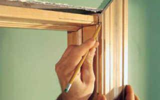 Как правильно крепить наличники на межкомнатные двери?
