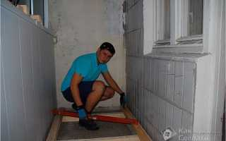 Как выровнять пол на балконе?