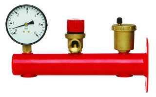 Куда ставится группа безопасности для системы отопления?