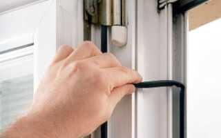 Как вставить уплотнительную резинку в пластиковое окно?