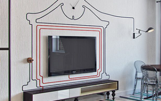 Как закрепить ресивер к телевизору на стене?
