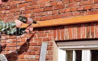 Чем крепить обрешетку к кирпичной стене?