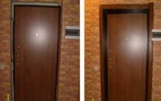 Как установить наличники на входные металлические двери?