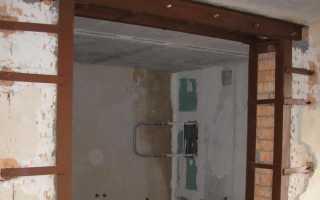Как расширить дверной проем в кирпичной стене, перегородке