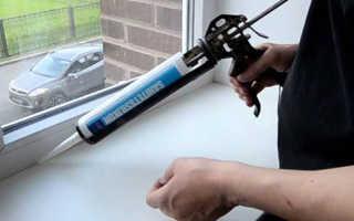 Чем замазывают швы в пластиковых окнах?