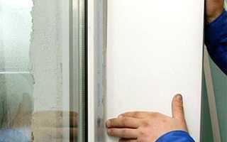 Установление откосов из сэндвич панелей на окна