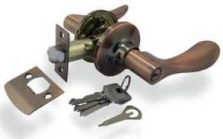 Установка и разборка дверной ручки со встроенной защелкой