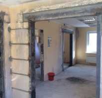 Как увеличить дверной проем в бетонной стене?