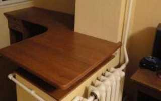 Столешница вместо подоконника на балконе