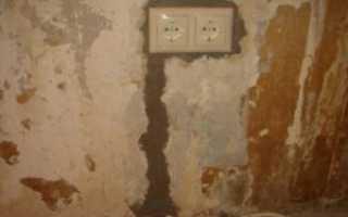 Чем замазать штробу с проводкой в стене?