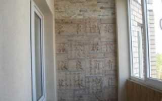 Самостоятельная отделка стен балкона штукатуркой
