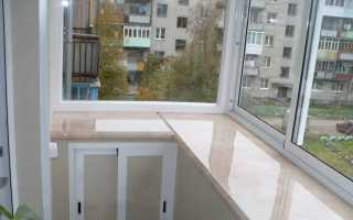 Устанавливаем подоконник на балконе своими руками